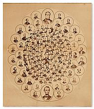 (SLAVERY AND ABOLITION.) LINCOLN, ABRAHAM. Anti-Slavery Constitutional Amendment Picture.