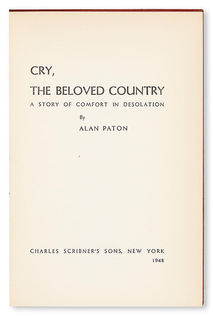 an analysis of cry the beloved country a novel by alan paton Title length color rating : the meaning of the title, cry, the beloved country - the 1940 set in time book, cry, the beloved country's title by alan paton have.