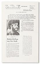 (BLACK PANTHERS.) YIPPIES. Legal Defense Fund Press Release. LDF to defend Bobby Seale.