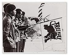 (BLACK PANTHERS.) HUEY P. NEWTON, ELDRIDGE CLEAVER, ET AL. Group of 25 press photographs of the Black Panthers.