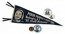 (CIVIL RIGHTS.) KING, MARTIN LUTHER JR. Poor People''s March, Washington D.C.