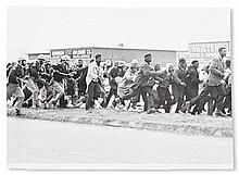 (CIVIL RIGHTS.) PHOTOGRAPHY. Group of 16 press wire service photographs from the decades of the civil rights struggle, the shooting of