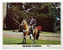 (FILM.) Set of 8 lobby cards for the film Black Rodeo starring Muhammad Ali.
