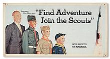 (BOY SCOUTS.) GLENN, JOHN. Find Adventure, Join the Scouts.