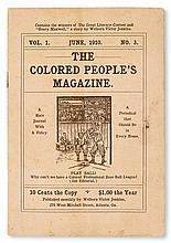 (LITERATURE AND POETRY--PERIODICALS.) JENKINS, WELLBORN VICTOR, EDITOR .Volume 1, number 3 of The Colored People's Magazine.