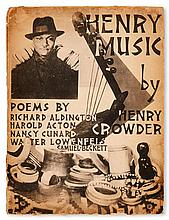 (LITERATURE AND POETRY.) CROWDER, HENRY; COMPOSER. Henry Music, Poems by Richard Aldington, Harold Acton, Nancy Cunard, Walter Lowenfel