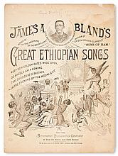 (MUSIC--MINSTRELSY.) BLAND, JAMES A. Three pieces of original music: In the Evening by the Moonlight * In the Morning by the Bright Lig