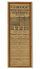 (MUSIC--MINSTRELSY.) Stetson''s Big Spectacular Uncle Tom''s Cabin Company. Large, double-sided theatrical broadside.