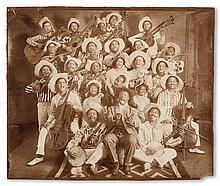 (MUSIC--MINSTRELSY.) Photograph, possibly of Callenders'' Georgia Minstrel Troupe.