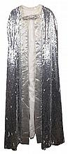 MUSIC--SOUL.) BROWN, JAMES. James Brown's silver sequined cape, presented to him by Michael Jackson,