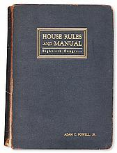 (POLITICS.) Deschler, Lewis. Constitution, Jefferson''s Manual, and Rules of the House of Representatives.