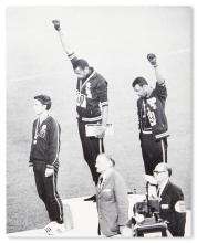 (SPORT--TRACK.) TOMMIE SMITH & JOHN CARLOS. Black Power Salute.