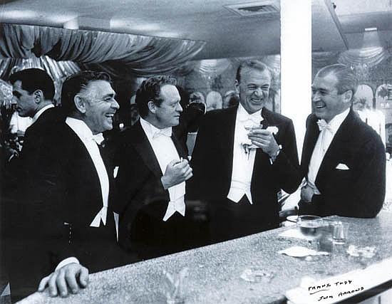 """AARONS, SLIM (1916-2006) """"The Four Kings of Hollywood [Clark Gable, Van Heflin, Gary Cooper, Jimmy Stewart]."""""""