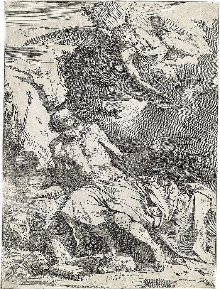 JUSEPE DE RIBERA Saint Jerome Hearing the Trumpet of the Last Judgment.
