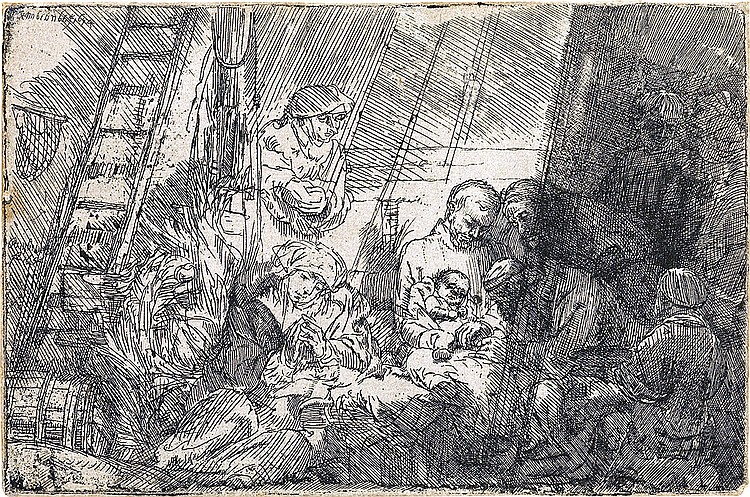 REMBRANDT VAN RIJN The Circumcision in the Stable.