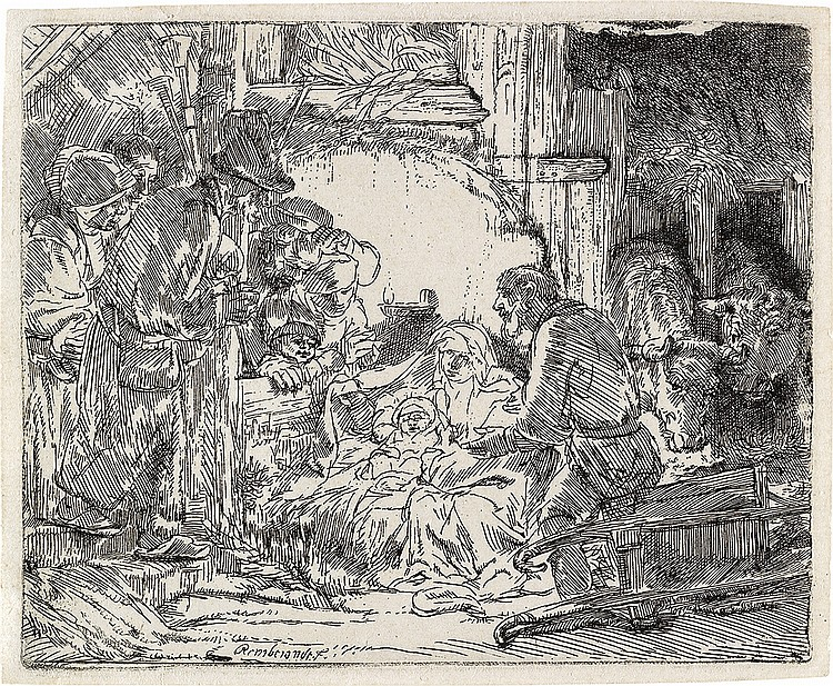 REMBRANDT VAN RIJN The Adoration of the Shepherds: with the Lamp.