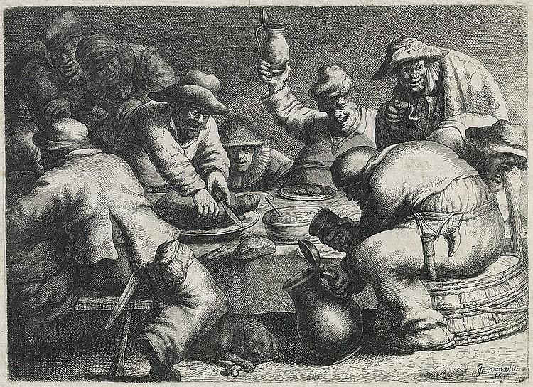JAN JORIS VAN VLIET Two etchings.
