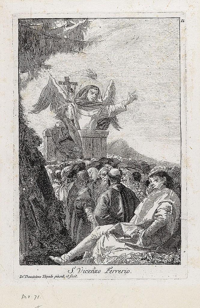 GIOVANNI D. TIEPOLO S. Vincenzo Ferreri predica in campagna.