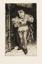 WILLIAM MERRITT CHASE Two etchings.
