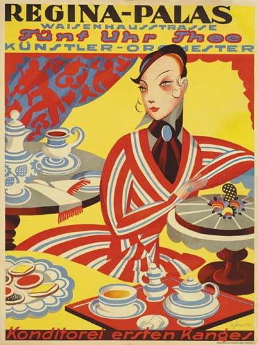 MAX SCHWARZER (1882-1955) REGINA-PALAS.   Circa 1915.