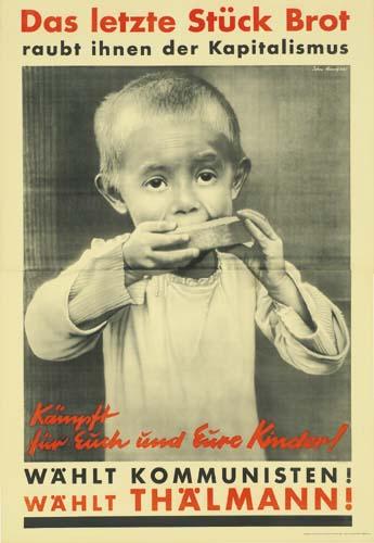 JOHN HEARTFIELD (1891-1968) DAS LETZTE STUCK BROT. 1932.