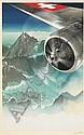 HERBERT MATTER (1907-1984) [PLANE OVER ALPS.] Circa 1935. Original photo-collage study., Herbert Matter, Click for value