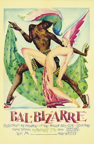 ROLF STOLL (1892-1978) BAL BIZARRE.  1930.