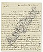 HUME, DAVID. Autograph Letter Signed, to the Ambassador of Great Britain to France the Earl of Hertford (