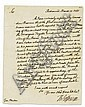 JEFFERSON, THOMAS. Letter Signed,