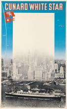 A. ROQUIN (DATES UNKNOWN). CUNARD WHITE STAR. 1938. 39x24 inches, 99x61 cm. Nadal, Paris.