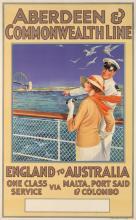 ERNEST LONGMATE (1876-?). ABERDEEN & COMMONWEALTH LINE / ENGLAND TO AUSTRALIA. 1935. 40x24 inches, 101x63 cm. Gibbs & Gibbs Ltd., Londo