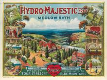 CHARLES HENRY HUNT (1857-1938). HYDRO - MAJESTIC HOTEL / MEDLOW BATH. Circa 1920. 30x39 inches, 76x100 cm. Bloxham & Chambers Ltd., Syd