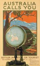 PERCIVAL ALBERT (PERCY) TROMPF (1902-1964). AUSTRALIA CALLS YOU / SETTLER, INVESTOR, OR TOURIST. 1928. 39x24 inches, 100x62 cm. Posters