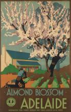 DESIGNER UNKNOWN. ADELAIDE / ALMOND BLOSSOM. Circa 1930. 39x25 inches, 100x63 cm. C. Wall, Adelaide.