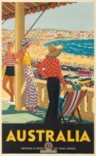 PERCIVAL ALBERT (PERCY) TROMPF (1902-1964). AUSTRALIA. 1929. 40x25 inches, 101x63 cm. Troedel & Cooper Pty., Ltd., Melbourne.