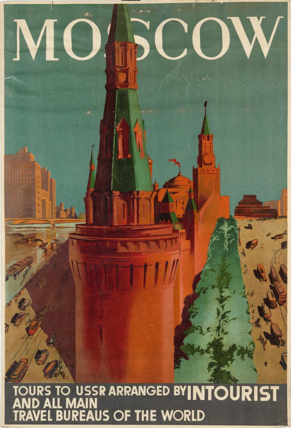 DESIGNER UNKNOWN. MOSCOW. Circa 1930s. 40x27 inches, 101x69 cm.