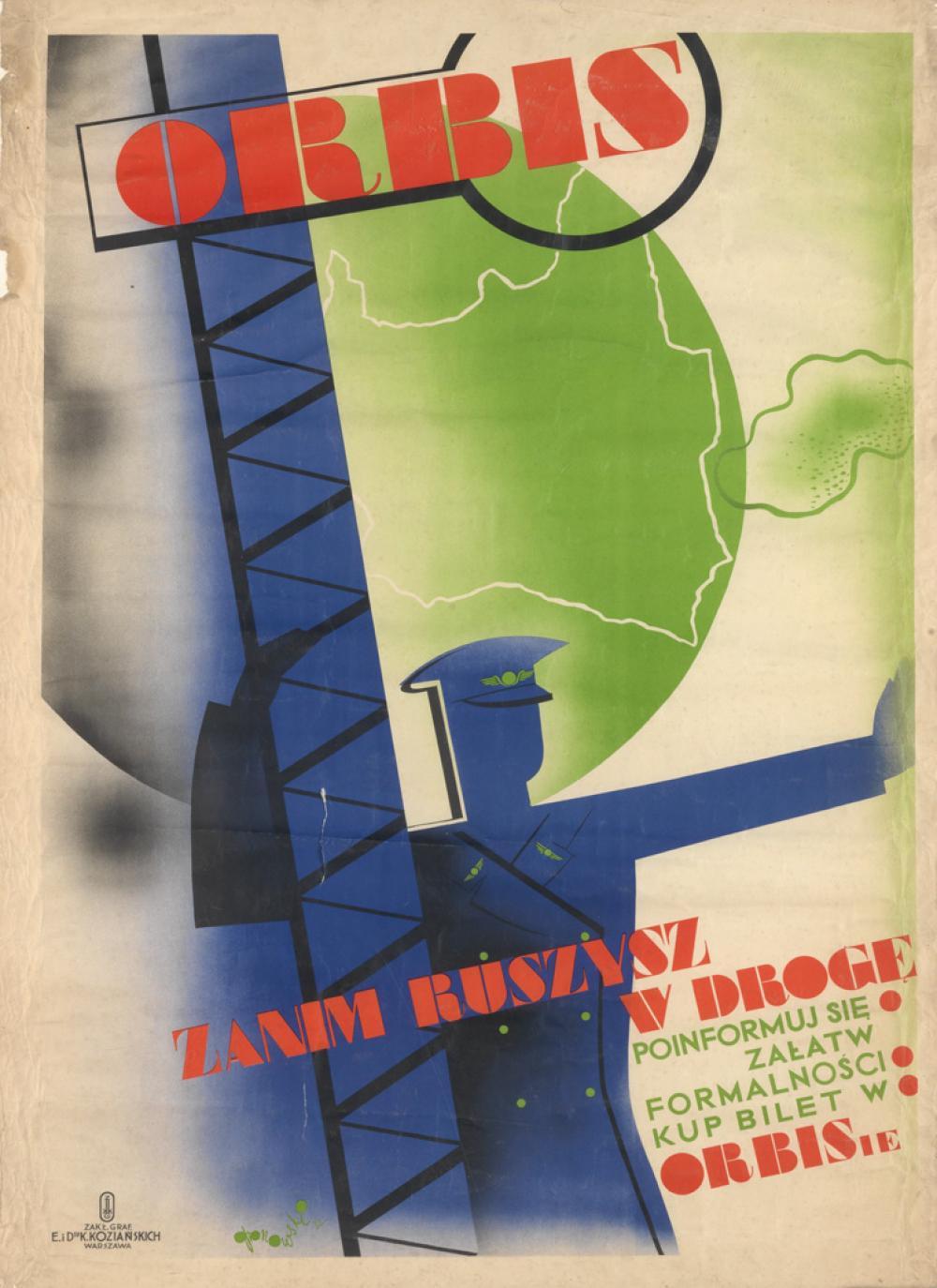 TADEUSZ GRONOWKSI (1894-1990). ORBIS. 1932. 39x27 inches, 99x69 cm. K. Kozianskich, Warsaw.