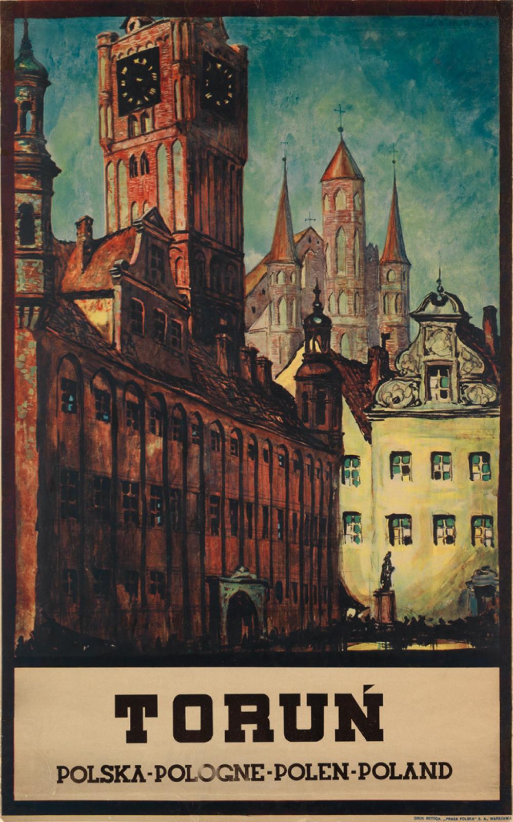 STEFAN NORBLIN (1892-1952). TORUN. Circa 1927. 39x24 inches, 99x62 cm. Bibljoteka Polska, Warsaw.