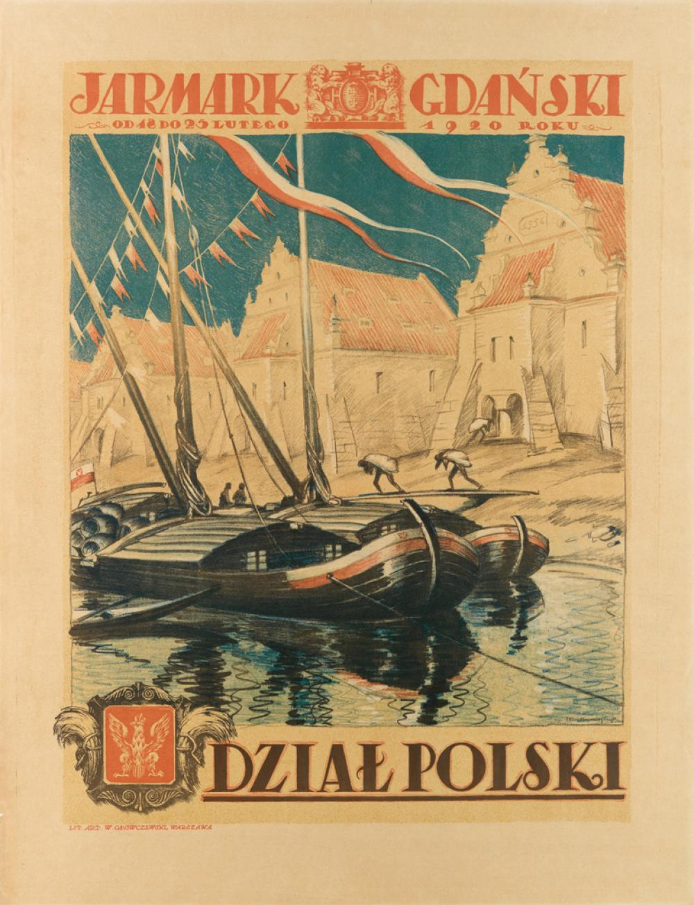 EDMUND BARTLOMIEJCZYK (1885-1950). JARMARK GDANSKI / DZIAL POLSKI. 1920. 35x27 inches, 91x69 cm. G. Geowczewski, Warsaw.