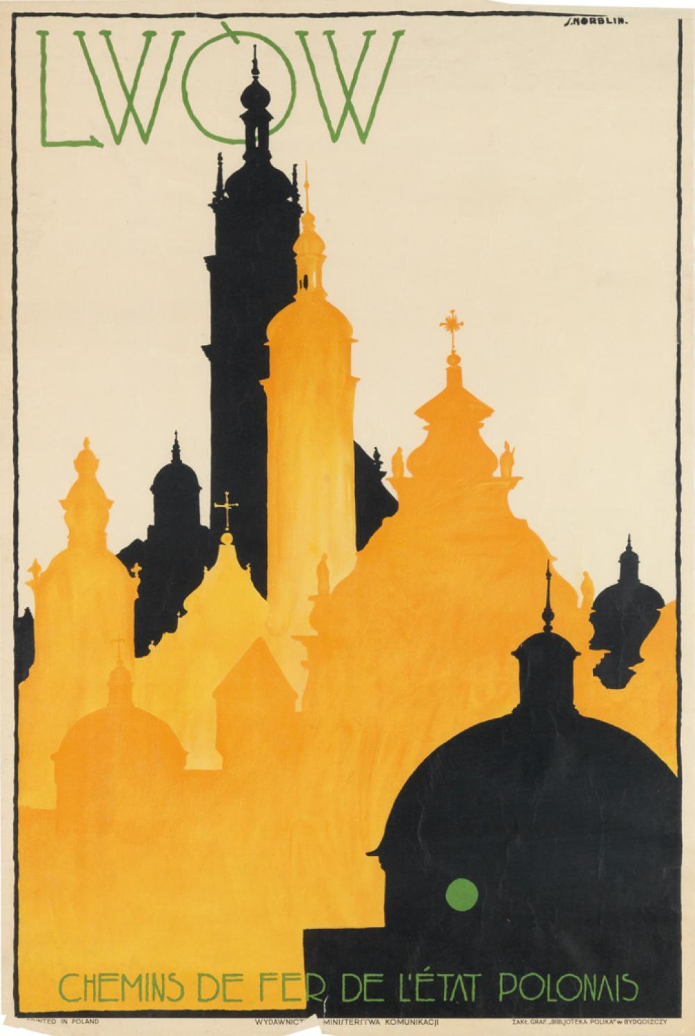 STEFAN NORBLIN (1892-1952). LWÒW. 1928. 29x19 inches, 74x49 cm. Bibljoteka Poliska, Bydgoszczy.
