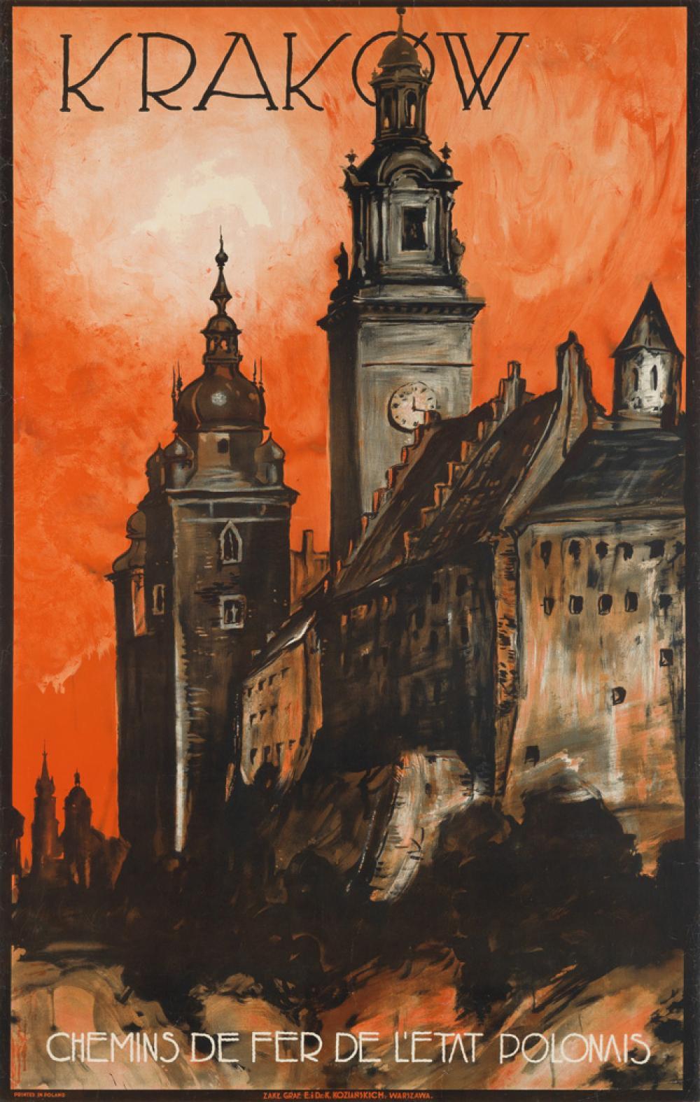 STEFAN NORBLIN (1892-1952). KRAKÓW. Circa 1935. 39x24 inches, 99x63 cm. Kozianskich, Warsaw.