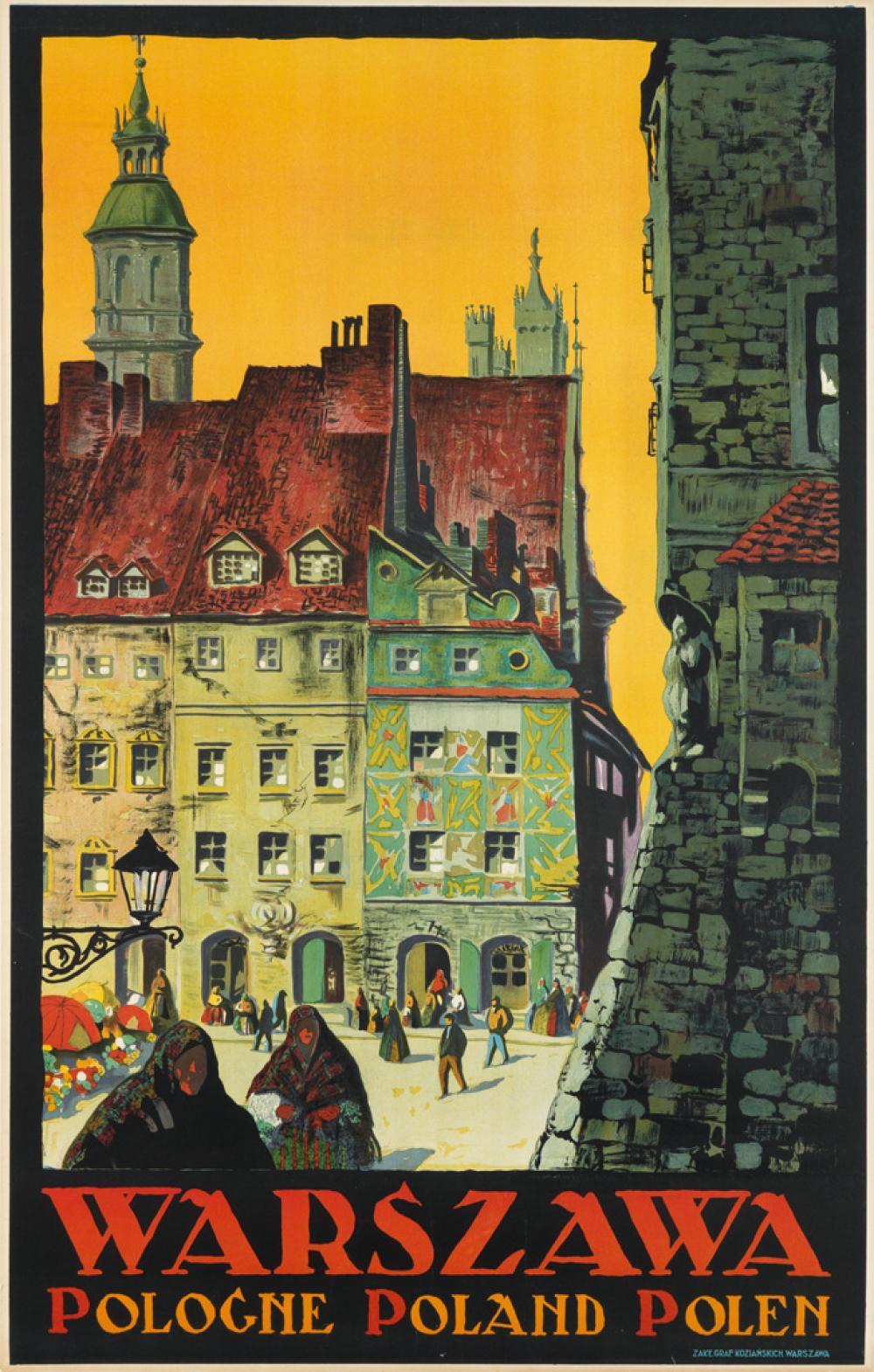 STEFAN NORBLIN (1892-1952). WARSZAWA. 1925. 38x24 inches, 98x63 cm. K. Kozianskich, Warsaw.