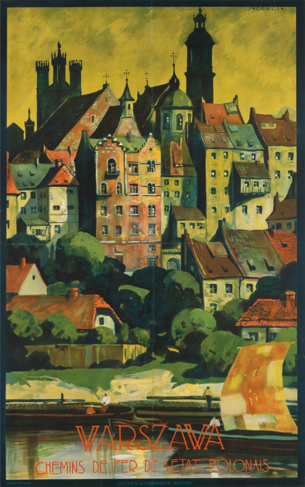 STEFAN NORBLIN (1892-1952). WARSZAWA. Circa 1925. 38x24 inches, 98x62 cm. K. Kozianskich, Warsaw.