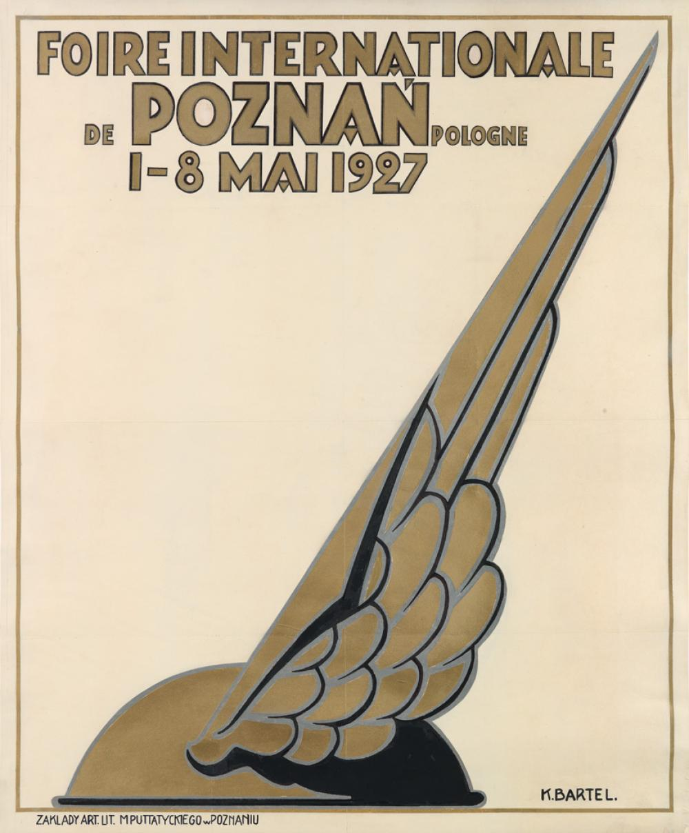K. BARTEL (DATES UNKNOWN). FOIRE INTERNATIONALE DE POZNAN POLOGNE. 1927. 33x27 inches, 85x70 cm. Zaklady Art Lit., Poznan.