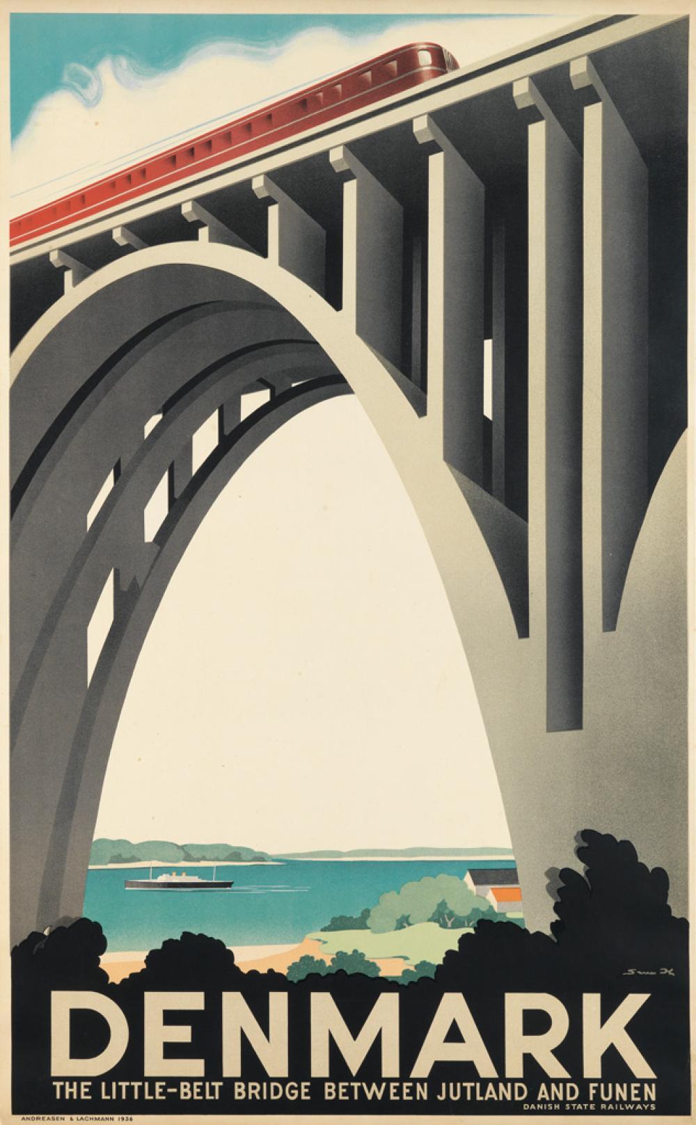 SVEN HENRIKSEN (1890-1935). DENMARK. 1936. 39x24 inches, 99x61 cm. Adreasen & Lachmann.