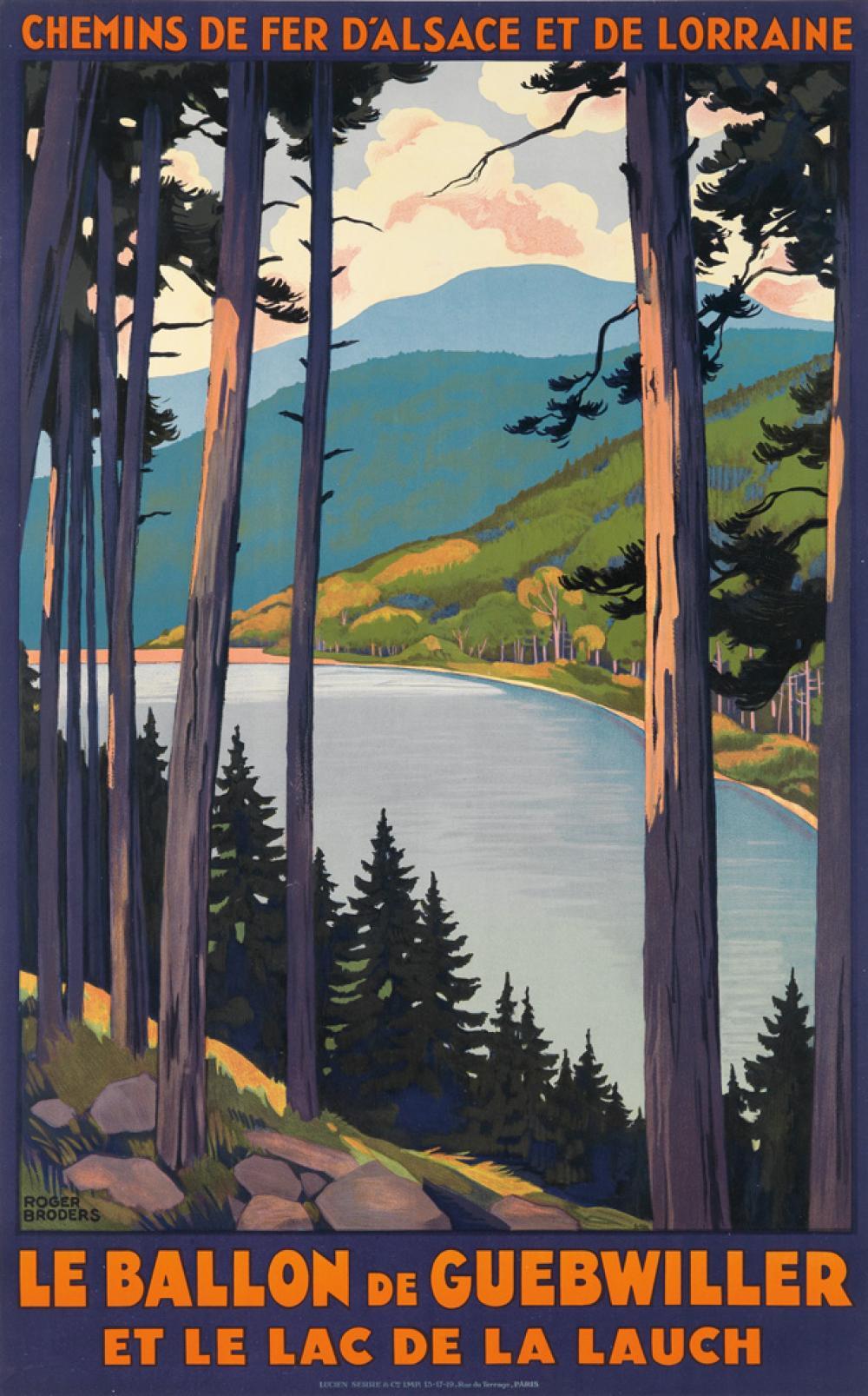 ROGER BRODERS (1883-1953). LE BALLON DE GUEBWILLER. Circa 1930. 39x24 inches, 100x62 cm., Lucien Serre, Paris.