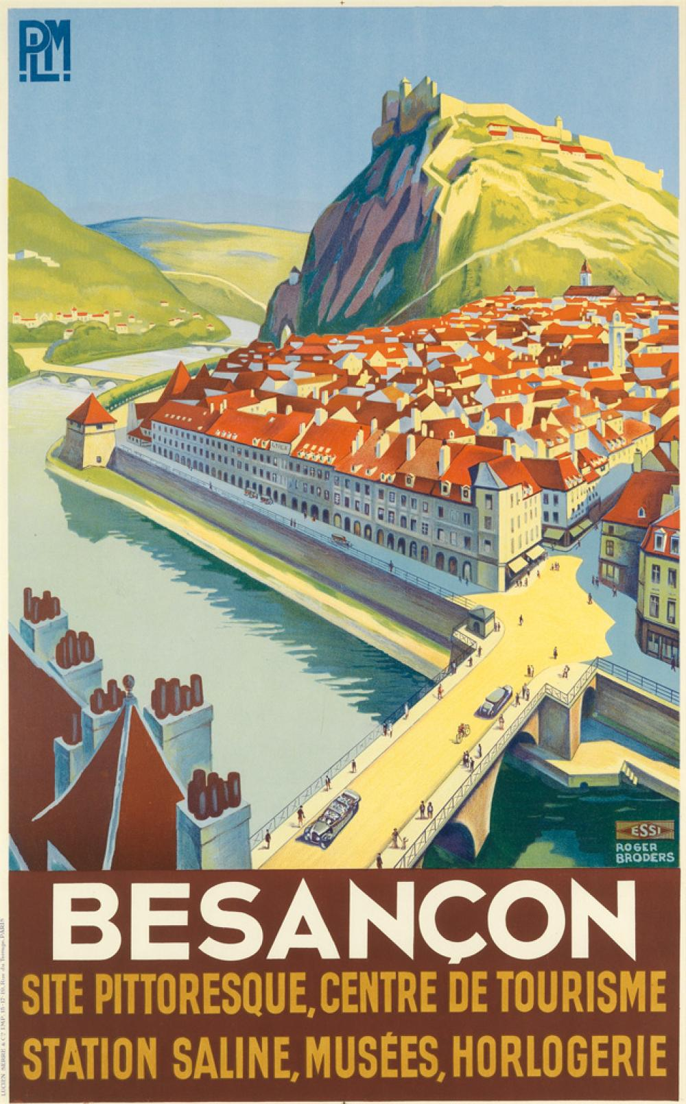 ROGER BRODERS (1883-1953). BESANÇON. Circa 1930. 39x24 inches, 99x61 cm. Lucien Serre & Cie, Paris.