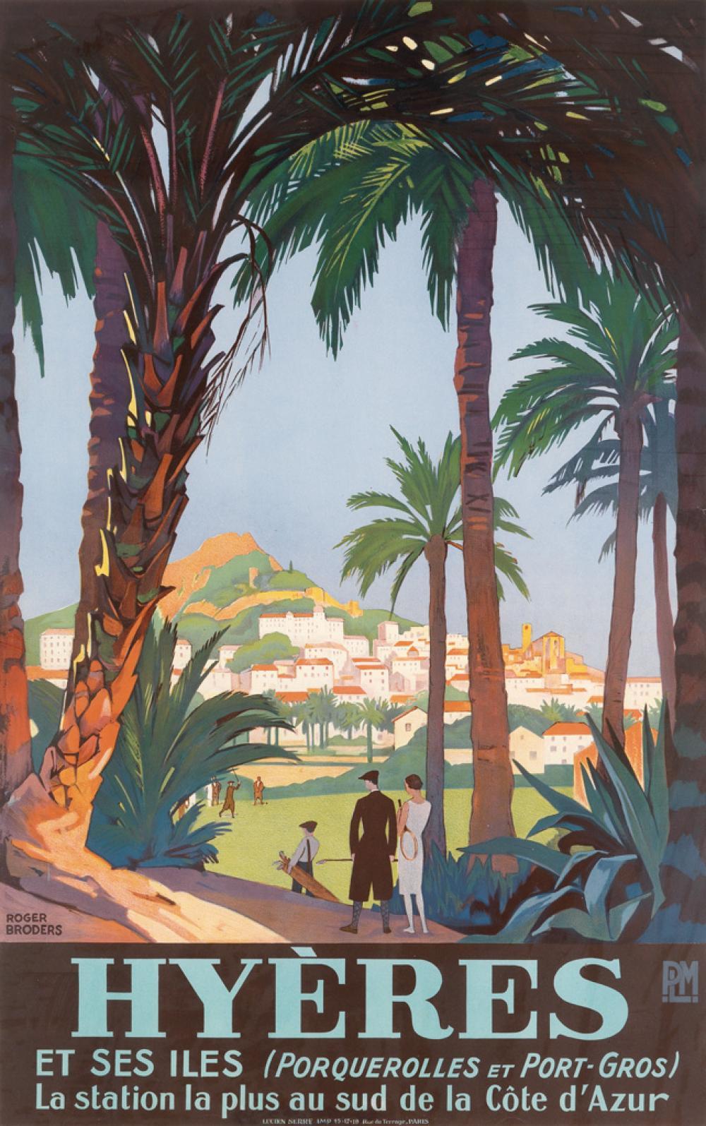 ROGER BRODERS (1883-1953). HYÈRES. Circa 1931. 39x24 inches, 99x62 cm. Lucien Serre, Paris.