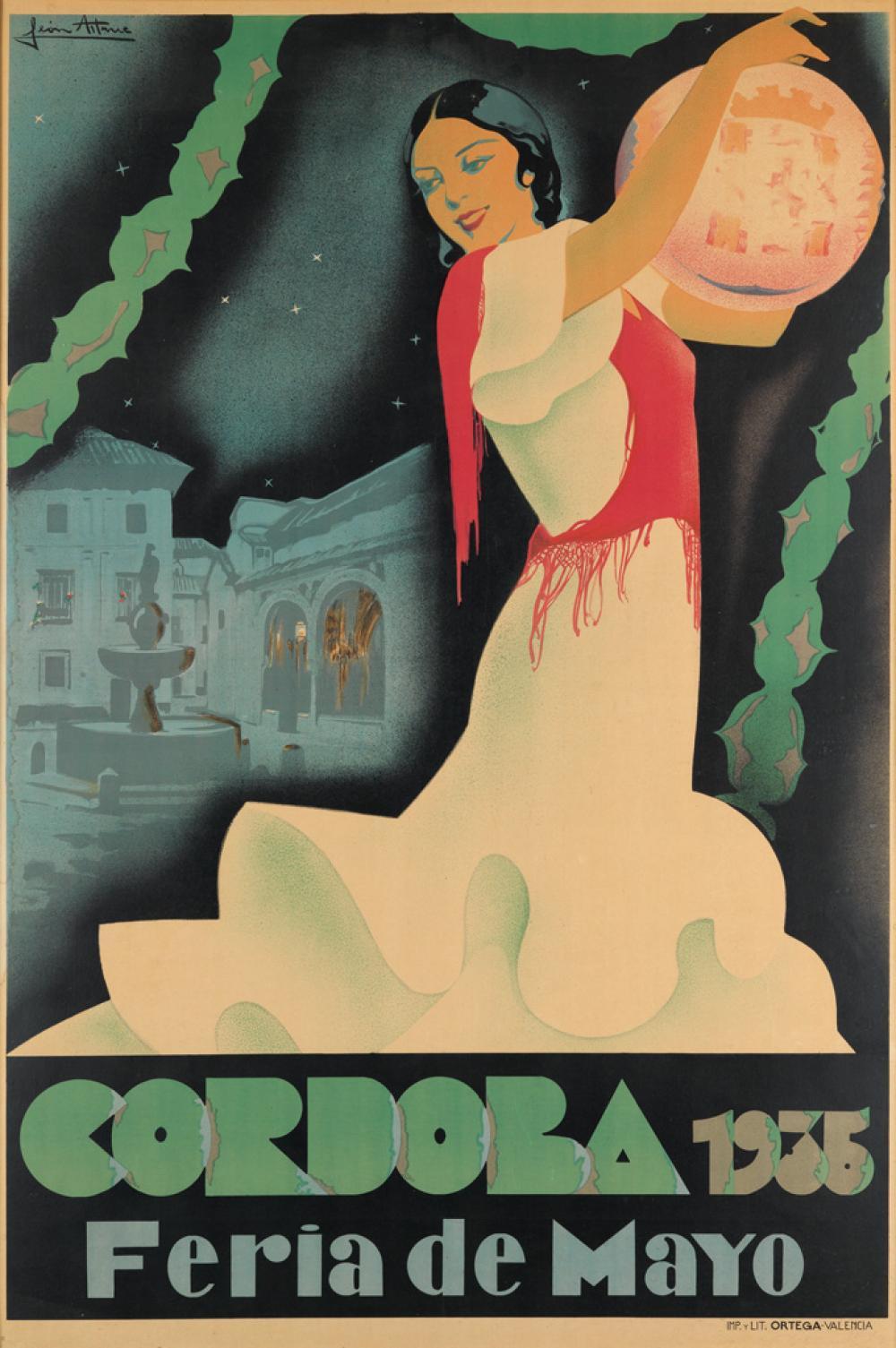 MANUEL LEÓN ASTRUC (1889-1965). CORDOBA / FERIA DE MAYO. 1935. 60x40 inches, 153x101 cm. Ortega, Valencia.