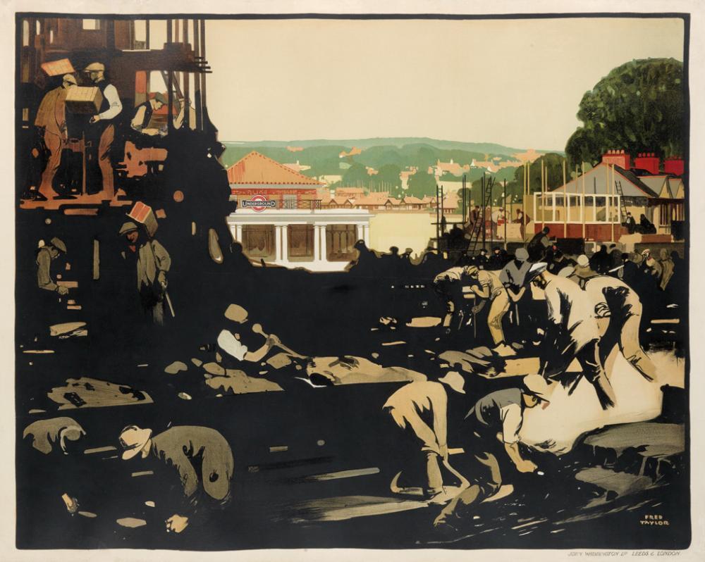 FRED TAYLOR (1875-1963). [NEW WORKS.] 1923. 40x50 inches, 101x127 cm. John Waddington Ltd, Leeds.